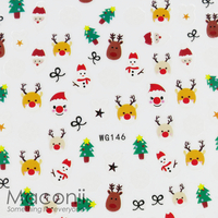 Nail Stickers - WG146 Cute Christmas