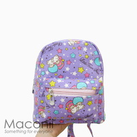Little Twin Star Purple Small Backpack