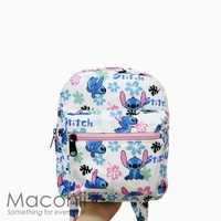 Stitch White Small Backpack