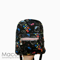 Hello Kitty Black Small Backpack