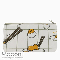Gudetama Grid Medium Pouch