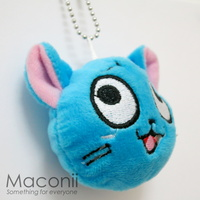 Fairy Tail Happy Plush Keyring