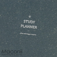 6-Month Study Planner Textured Blue-Grey