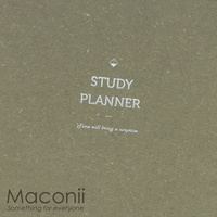 6-Month Study Planner Textured Taupe