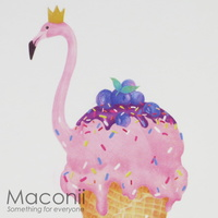 Animal Ice Cream Notebook - Flamingo