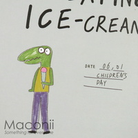 I Like Eating Ice-Cream Notebook Design - Crocodile