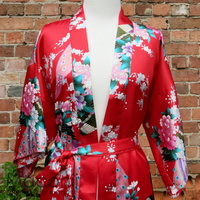 Kimono - Peacock Red (Sizes S - XXXL)