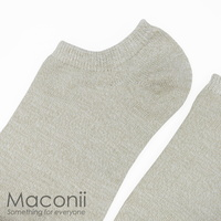 Socks - Naturally Plain Grey-Beige