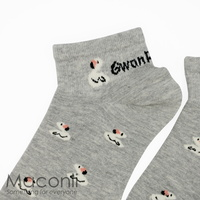 Socks - Swan Pattern Grey