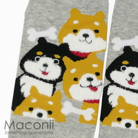 Socks - Shiba Inu Light Grey
