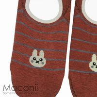 Socks - Brown Rabbit Emoji