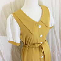 Contrast Sleeve Dress - Yellow
