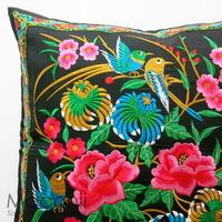 Embroidered Cushion Cover - Nature's Treasure #006
