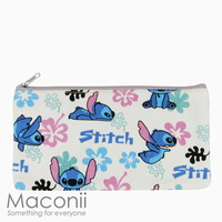 Stitch White Medium Pouch