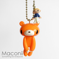 Gloomy Bear Keyring - Orange