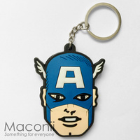 Captain America Face Keyring