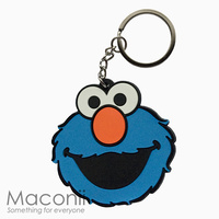 Cookie Monster Face Keyring