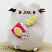 Pusheen with Potato Chips Plush 24cm