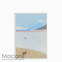 Hardcover Notebook Blank Beach Day Design