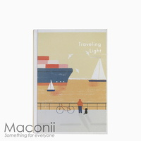Hardcover Notebook Blank Sunset By The Pier Design