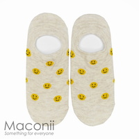 Socks - Smiley Face Pattern Beige