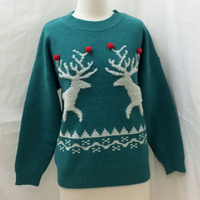 Reindeer Jumper - Green