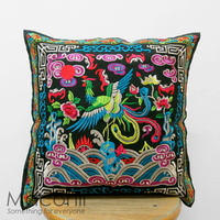 Embroidered Cushion Cover - Phoenix #007