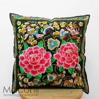 Embroidered Cushion Cover - Coupled #008